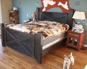 Barn Door Bed - Handmade with Reclaimed Wood by Arcadian Cottage