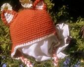 Crochet Custom Toddler/Child Fox Hat