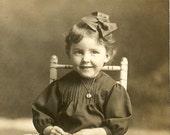 Free USA Shipping Cute Girl Rocking Chair Real Photo Postcard RPPC AZO Stampbox