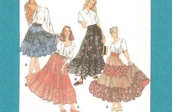 Simplicity 8624 Skirts Tiers Broomstick Crinkling XS to MED Uncut Free USA Shipping