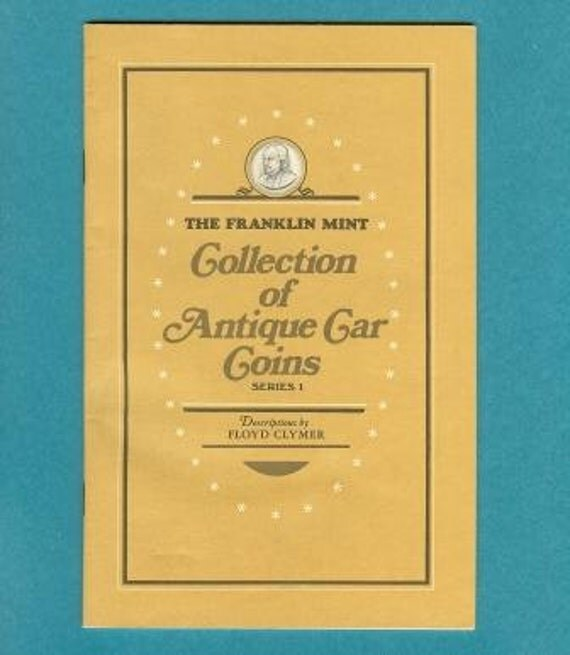 Franklin Mint Collection of Antique Car Coins Series 1