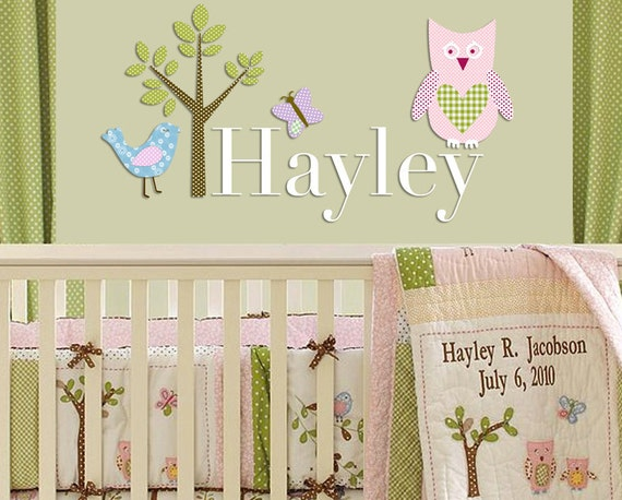 Pottery Barn Hayley Bedding Inspired Vinyl Personalized Name