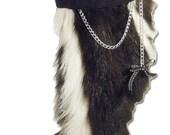 Skunk Fur Boots - Knee High