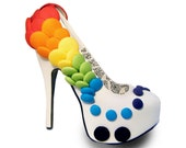 Rainbow Button Concealed Platform Pumps