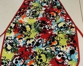 Painted Skulls Child Apron - Fits Up to 5T