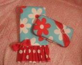 Burpee cloth and matching wipe case gift set.