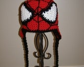 Superhero spider-dude crochet  hat newborn - adult made to order FREE US SHIPPING