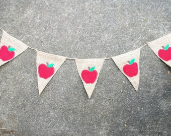 Apple Banner/Pennant/Bunting For Teacher Appreciation