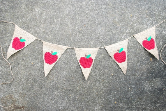 Apple Banner/Pennant/Bunting For Teacher Appreciation