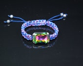 Swarovski Fancy Stone Blue and Pink Frienship Bracelet