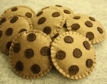 Felt Chocolate Cookies - Set of 3