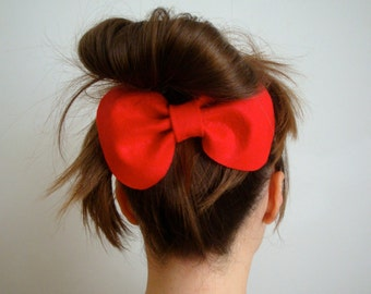 Giant Betty Bow // Red Felt Hair Bow // Original Design // Ready to ship