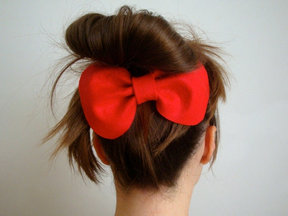 Giant Bow // Red Felt Hair Bow // Original Design // Ready to ship