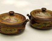 Vintage a pair of lidded Japanese Rice BOWLS