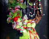 Whimsical Grapevine Wreath MADE TO ORDER