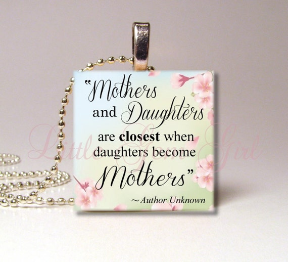 Mothers & Daughters Necklace Pendant Mothers Day By