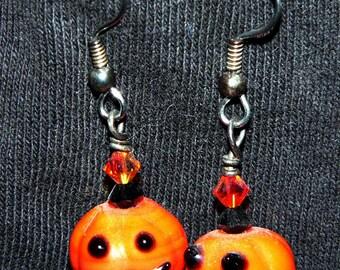 Halloween Jack-o-lantern Earrings