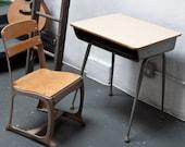 RESERVED fridaballerina - Industrial Metal School Student Chair