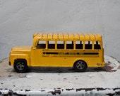 Hubley Toy School Bus Diecast Metal