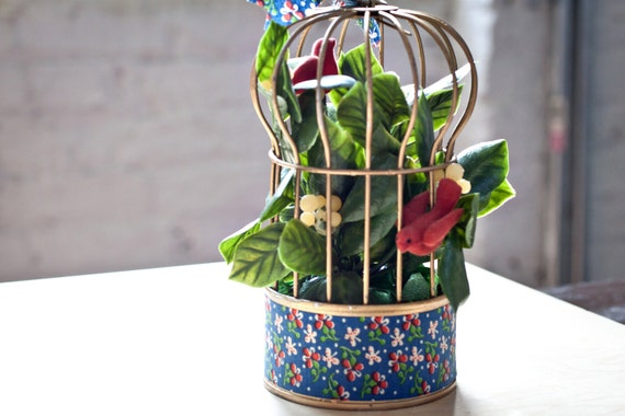 SALE - Tuna Can Bird Cage Handmade Decoration
