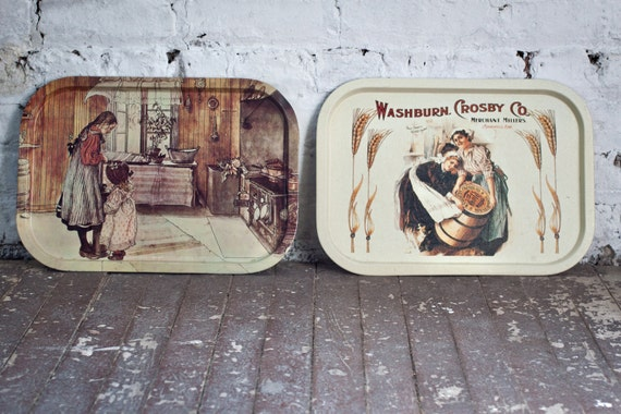 SALE - Serving Tray Washburn Crosby Merchant Millers