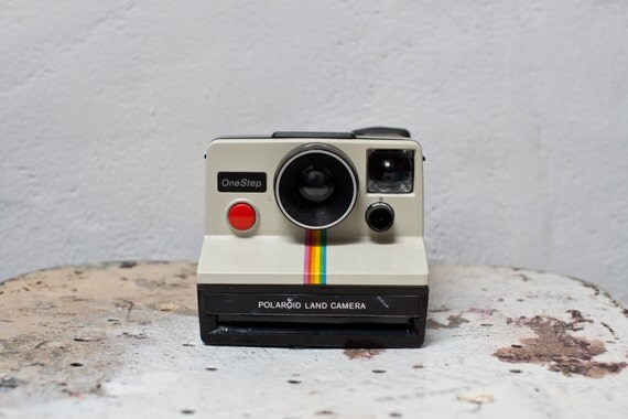 Polaroid SX-70 Rainbow OneStep Instant Film Land Camera with Case