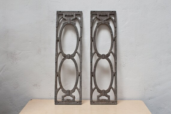 Set of Two Metal Decor