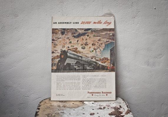 SALE - Pennsylvania Railroad Ad - War Bonds Advertising