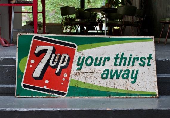 7up Your Thirst Away Metal Tin Sign