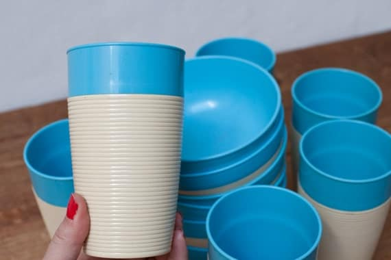 Set of Six Bowl and Seven Cups by Thermo Temp