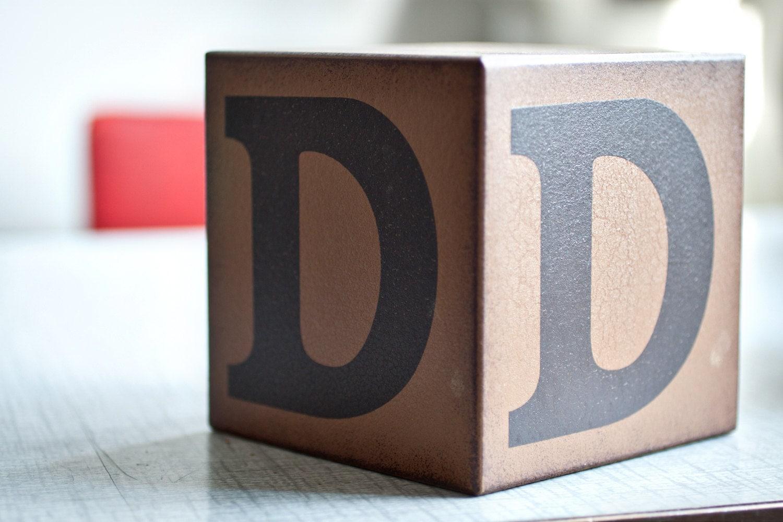 sale large wooden alphabet block letter d With huge letter blocks