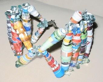 Paper Crazy colors bracelet-Paper Jewelry