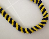 Blue and Yellow Rick Rack Lei