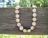 White Howlite Necklace; gemstone