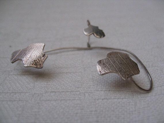 Art for the ear, Ear Jewel from fine silver (925) Ear cuff