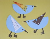 Six Sweet Birdies For Decorating, Gifting, Cardmaking, Scrapbooking,  and Displaying....free shipping...you can split into 6 little gifts