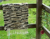 RESERVED Handwoven Rug / Bath Mat Reserved for Heather, CA