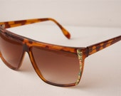 Brown And Floral Tort Flowers Retro Mod Vintage Sunglasses A48