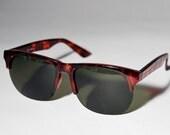 Vintage Brown Fashion Indie Urban Glossy Sunglasses