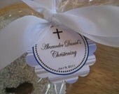 DIY - Printable MULTIPLE COLORS - Baptism, Christening, Communion, Religious Favor Tags Cupcake Toppers