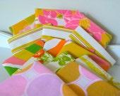 Reserved for Leenylee-Vintage Fabric Reclaimed Bed Linens Fat Quarters Lot --Bundle of Fourteen (14)