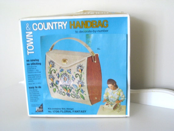 Vintage Box Purse Town and Country Handbag Kit -Enid Collins Purse Style- IOP