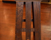 Arts & Crafts Antique Mission Oak Plant Stand or End Table