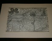 RW & O New York Central Division Railroad Map Engraved Adirondack Timetables