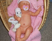 Reborn Baby Doll Claire Weighted OOAK girl Anatomically Correct