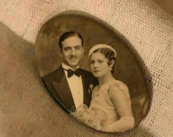 Eddie & Eiedy Souvenir Vintage Oval Mirror