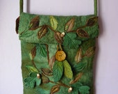 Elf Woodland Hand Felted Messenger Bag