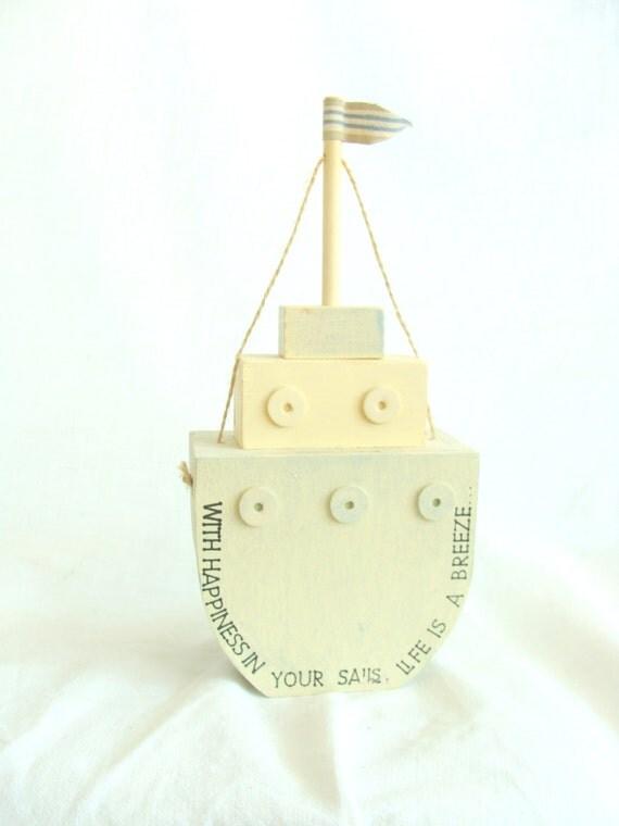 Nautical piggy bank sail away money safe wooden ship eco gift - Nautical piggy banks ...
