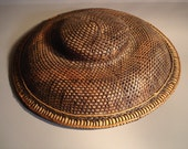 Straw Wicker Hat Exotic Asian Vintage Oriental