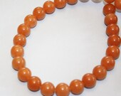 Orange Aventurine 10mm Round Beads, 30 beads, On SALE